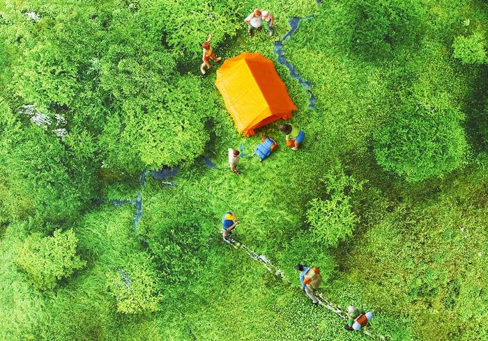 drone miniature photo / Kiyu Kobayashi
